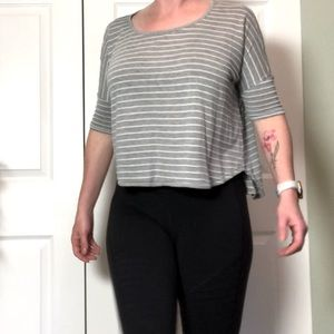 Gentle Fawn Striped Cropped Tee